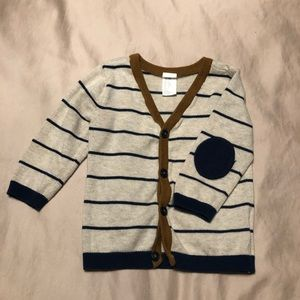 H & M striped Cardigan 6-9 months